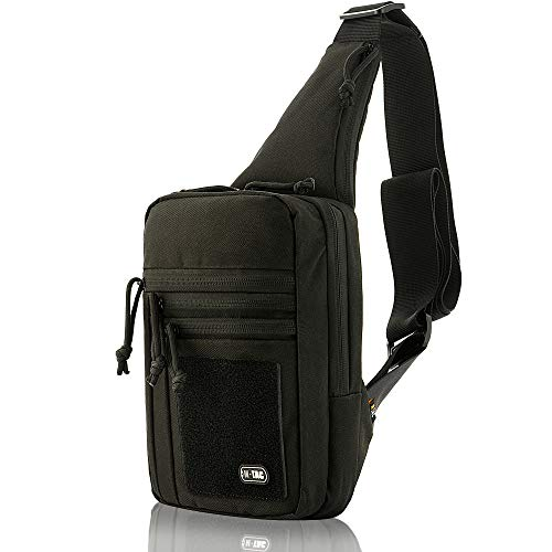 M-Tac Tactical Bag Shoulder Chest Pack with Sling for Concealed Carry of Handgun (Black)