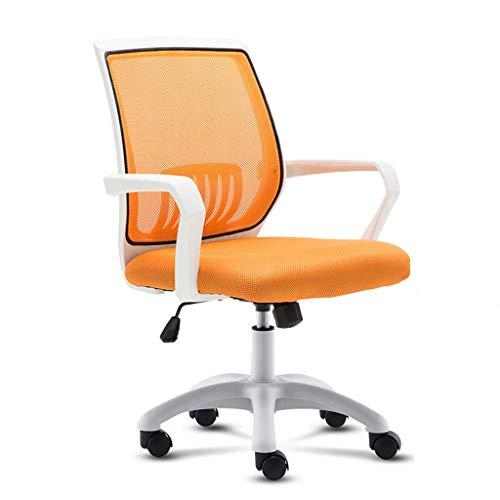 Ygqbgy Silla de Oficina con Respaldo Medio Muebles multifunción Malla Ejecutivo giratoria Adecuada con los Brazos Ajustables (Color : B)