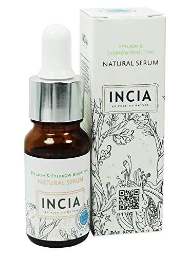 INCIA Augenbrauen und Wimpern Serum 10 ml (Augenbrauen- und Wimpern Stärkendes Serum pflegt, Aprikosenkern-, Süßmandel- und Sesamöle)