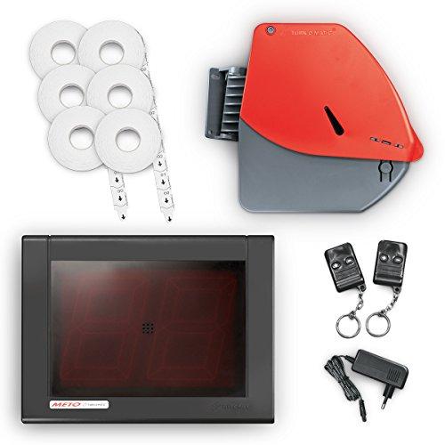 Meto Turn-O-Matic, Warteschlangen und Kundenfluss System 38328370 (rote, zweistellige LED Anzeige), 1 Aufrufanlage mit Zubehör, sofort einsatzbereit