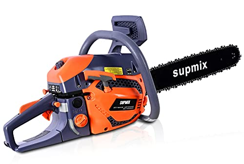 62cc Gas Chainsaw,20 Inch Chainsaw,Chainsaw Gas Powered 2-Cycle Handed Petrol Chainsaws Gasoline Chain Saws Max Speed 11500/min,Garden Tool for Cutting Wood Outdoor Home Farm