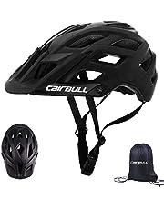 Cairbull City Aerodynamica, maat gespecialiseerde fietshelm, MTB-helm, 55-61 cm, mountainbike-helm voor heren en dames, met rugzak, fietshelm, integraal 19 ventilatiekanalen