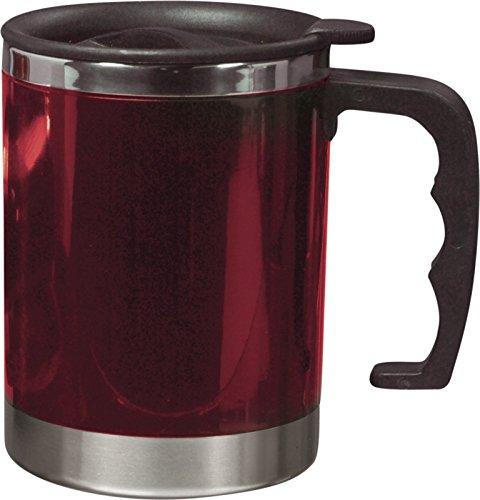 Unbekannt Thermobecher Doppelwandig Becher 400ml Coffee to go Becher Moskau Kaffeebecher Farbwahl Isolierbecher (rot)