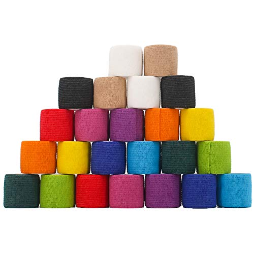 24 Pack Breathable Self Adherent Wrap, Athletic...