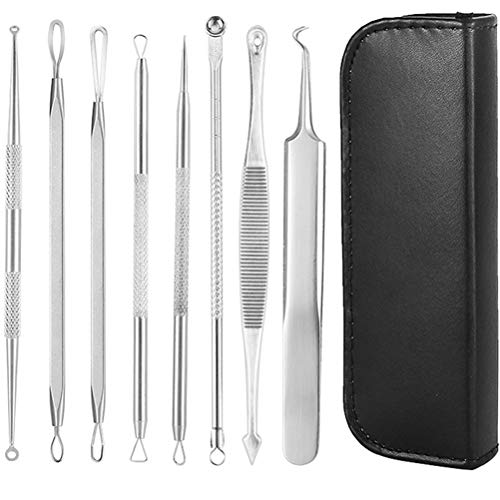 vivioi Acne Tools Blackhead Remover Pimple Comedone Extractor Removal Kit Professional Stainless Steel Clean Tool for Blemish, Whitehead Popping, Zit Removing