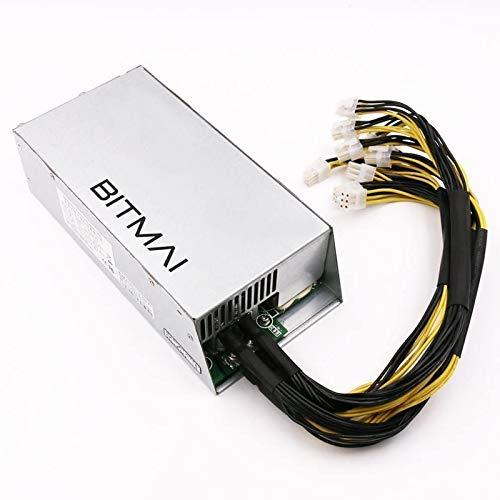 Bitcoin Antminer Bslemon APW7 Alimentation 2400W, PCI-E 6 Pin Compatible avec S9 L3 Z9 Mini D3w, ect.