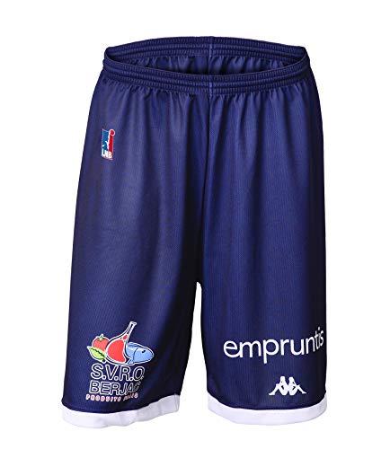 Nantes Basket Hermine Nantes - Pantalón Corto Oficial para Exteriores 2018-2019, Unisex Adulto, Color Azul, tamaño FR : 4XL (Taille Fabricant : 4XL)