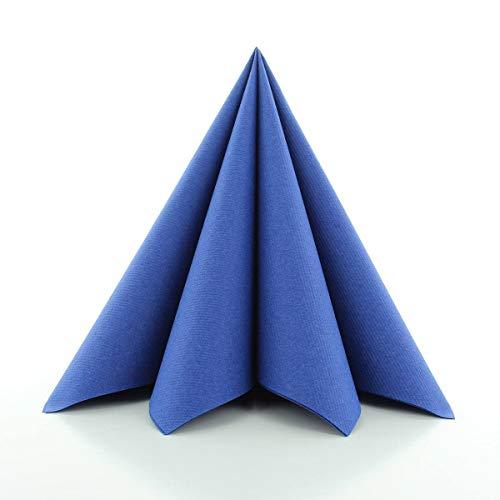 Sovie HORECA Airlaid-Servietten 40x40 cm | hochwertige Einweg-Servietten | extrem saugstark und stoffähnlich | ideal für Hochzeit & Partys | 50 Stück | Royal-Blau
