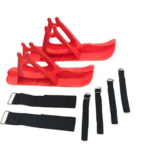 Erthree Juego de tablas de trineo de nieve para esquís, para equilibrar las piezas de la vespa del coche, portátil, duradero, para la nieve o la arena, para el entrenamiento de pedales de los niños (