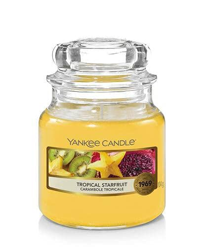 Yankee Candle Scented Candle   Tropical Starfruit Small Jar Candle   Burn Time: up to 30 Hours