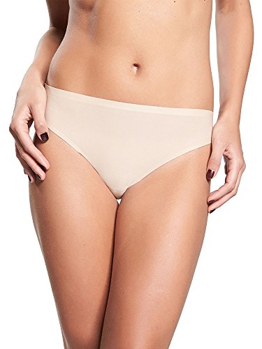 Chantelle Women's Soft Stretch One Size Regular Rise Thong, Ultra Nude