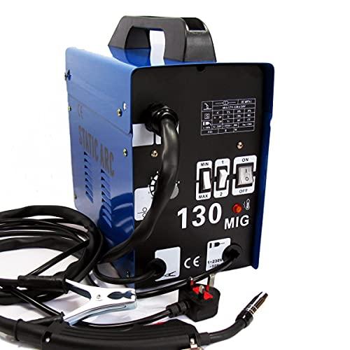 GASLESS MIG 130 Welder Flux CORE Wire Feed NO Gas Welding Machine + Wire...