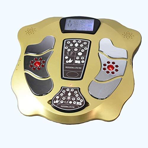 CXN Salud Eléctrico EMS Foot Masajeador con Calefacción Baja Frecuencia Fisioterapia para Sangre Circulación Masaje