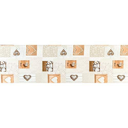 Il Gruppone Passione Casa Passatoia Cucina, Tappeto da Ingresso Runner con Stampa Digitale e Fondo Antiscivolo Made in Italy Disponibile in 7 Misure Modello Saint Moritz - Saint Moritz - 50x400 cm