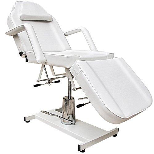 Eyepower 360° Massagestuhl Kosmetikstuhl Spa Kosmetikliege Behandlungsliege Weiß