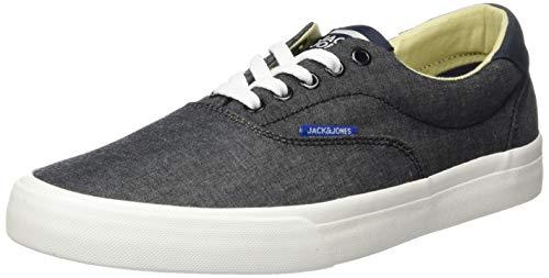 JACK & JONES Herren Jfwmork Chambray Sneaker, Grau (Anthracite), 45 EU