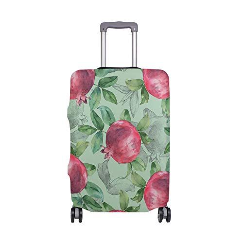 Gepäck mit Obst-Gemälde, Granatapfel-Schutz, Spandex, Reisegepäck-Abdeckung für Erwachsene, Damen, Herren, Teenager, passend für 45,7–50,8 cm