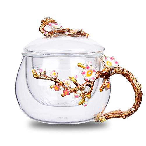 Vasos de esmalte creativo color sola taza de té engrosada tapa de té con tapa