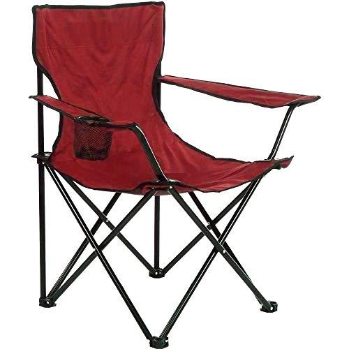 Arcoiris Silla de Camping, Silla de Acampada Plegable (Rojo 4pack)
