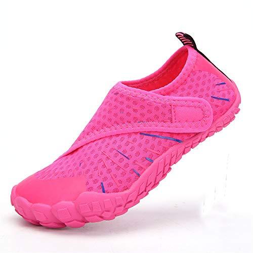 YLiansong-home Zapatos de Agua De baño Infantil Zapatos Zapatos de Agua al Aire Libre de Cinco Dedos Zapatos para Nadar (Color : Red, Tamaño : 37)
