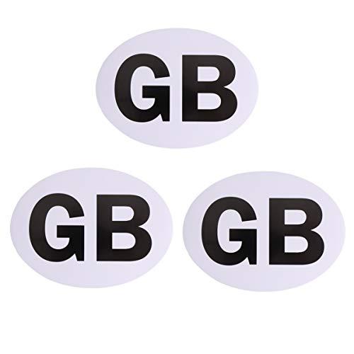 Wakauto Magnet GB Buchstaben Alphabet Autoaufkleber Aufkleber Fensteraufkleber für Auto Und LKW Zubehör 3St