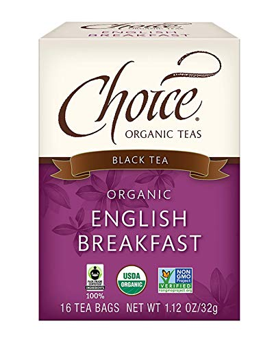 Choice Organic Teas - English Breakfast Tea (6 Pack) - Organic Black Tea - 96 Tea Bags