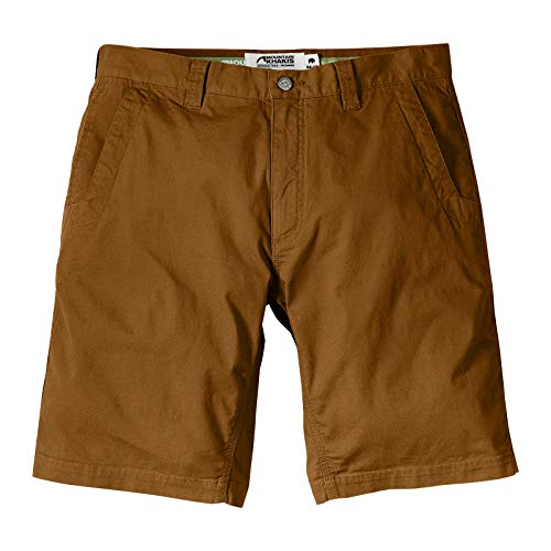 Mountain Khakis Mens All Mountain Slim Fit Short: Best Outdoor Hiking Summer Casual Short, Chestnut, 30W 10In
