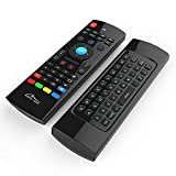 Media-Tech MT1422 Air Mouse - Teclado inalámbrico Android TV Control & Aprendizaje por Infrarrojos para Ordenador, PC, Android TV Box