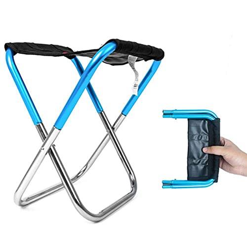 Klappstühle Outdoor Heavy Duty, Angelpicknickstuhl Leichtes Camping Faltbares Aluminiumtuch Outdoor Tragbar Leicht Zu Tragende Angelgeräte, Blau Outdoor