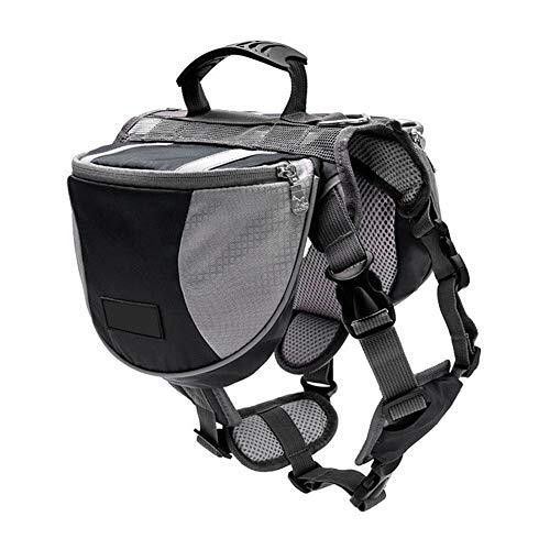 Yoommd Mochila para asiento de perro, mochila de senderismo, paquete para perros, chaleco de viaje y camping, reflectante, ligera, para mascotas medianas y grandes