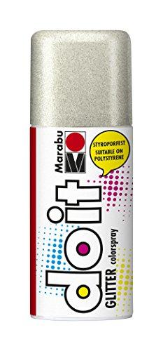 Marabu 21075006582 - Do it Glitter silber, Colorspray auf Acrylbasis, styroporfest, sehr schnell trocknend, transparent mit faszinierenden Glittereffekten, lichtecht, 150 ml Sprühdose