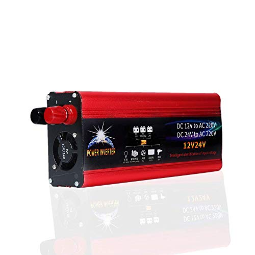 Power Inverter Convertidor 4000W universal inversor De Energía 12V a 220V del inversor de la energía solar Power Inverter del coche de 12V 24V Convertidor del Coche