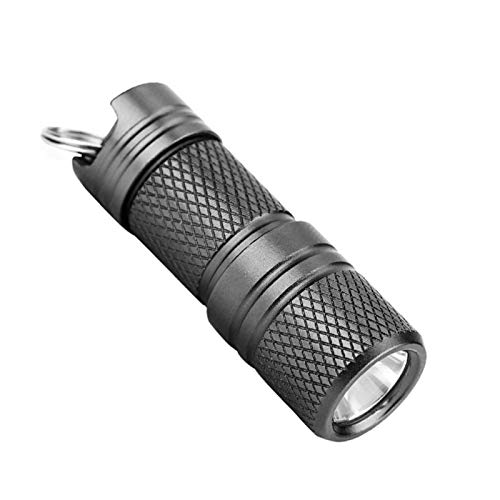 AchidistviQ N2017 Mini linterna llaveros, USB recargable portátil linterna LED llavero luz antorcha lámpara llavero titular de la llave para regalo de cumpleaños