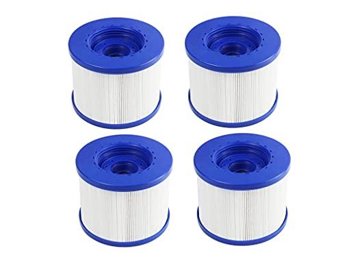 Ersatz-Filterkartusche für Wave Spa, Pool Filter für Whirlpool/Spa/Hot Tub, Filterpatrone für Clever Spa,für Aquaparx,für Aqua Spa,für Costway,für All Seasons, für GoPlus, für Wido und andere (4pcs)