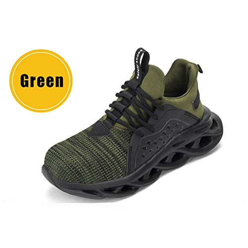 Syfinee Work Steel Toe Shoe, Men Women Piercing-proof Lightweight Breathable Work Safe Shoes Safety Work Industrial Construction Breathable Sneakers Outdoor Lightweight Non Slip Shoes