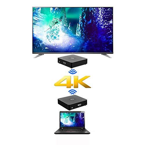 Measy W2H 4K 60GHz Wireless HDMI Transmitter Extender Receiver Latenzfreie Übertragung Unterstützt Full HD 4K @ 30Hz 3D (Sender + Empfänger)