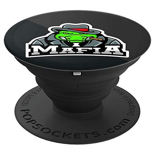 Krokodil-Mafia-Vektor mit roter Kappe Gaming-Geschenke - PopSockets Ausziehbarer Sockel und Griff für Smartphones und Tablets
