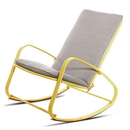 Eeayyygch Schaukelstuhl, einfacher und kreativer Schaukelstuhl, amerikanische Mittagspausenstuhl, Sonnenliege, 2 Stück, 4*,