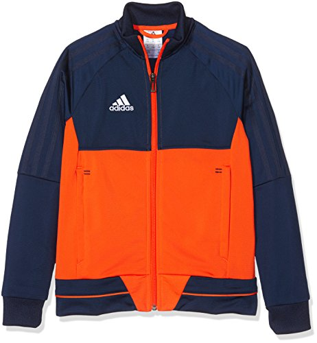adidas Jungen Tiro 17 Polyester Trainingsjacke, Collegiate Navy/Energy/White, 140