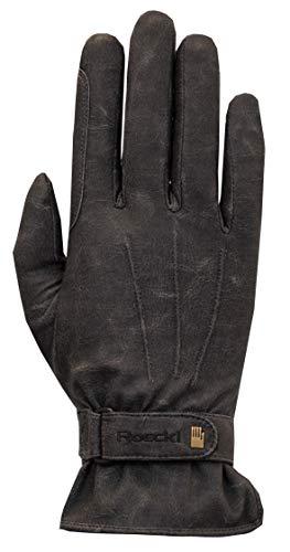 Roeckl Sports Winter Handschuh -Wago- Unisex Reithandschuh, Schwarz Stonewashed, 7,5