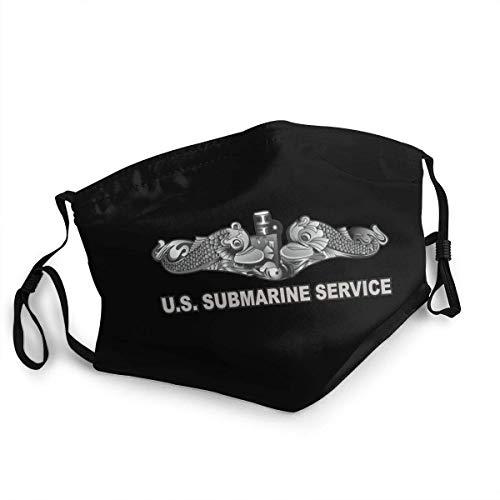 Unisex Adjustable Mask Us Submarine Service Dolphins with Us Flag Cloth Mask,Reusable & Washable