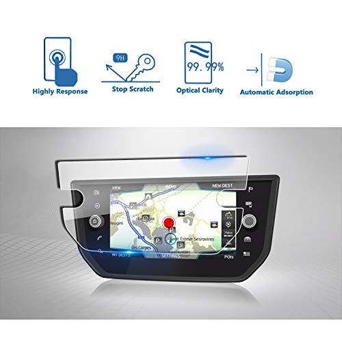 LFOTPP Seat Ibiza 8 inch navigatie beschermfolie - 9H krasbestendig anti-vingerafdruk pantserglas displaybeschermfolie GPS Navi folie