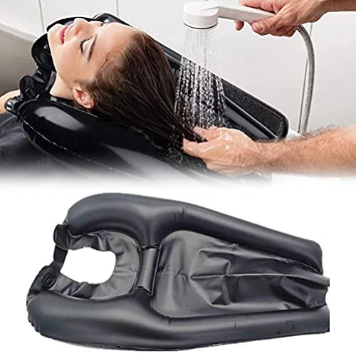 BSTCAR Cuenca de champú inflable de PVC, cuenca móvil portátil, almohadilla de champú infla y desinfla rápidamente el lavabo del cabello para mujeres embarazadas, lavado de cabello en la cama en casa