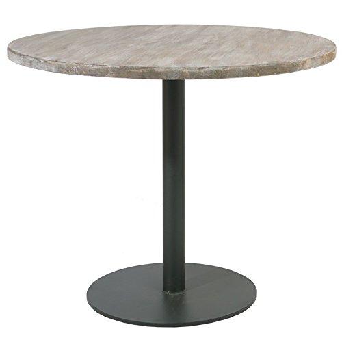 Indhouse Plat – Table de Restaurant loft avec Style Industriel en Bois et métal Cando