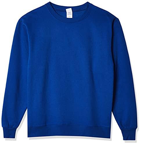 Hanes Men's EcoSmart Sweatshirt, Deep Royal, Medium