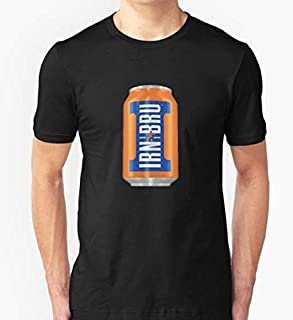 IRN BRU - Bottle Slim Fit T-Shirt 100% cotton Black or White for Man and Woman