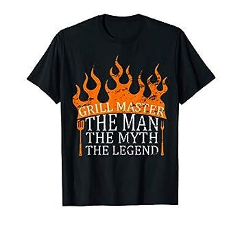 Mens Grill Master - The Man The Myth The Legend BBQ Smoker T-Shirt