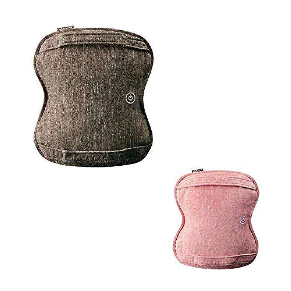 サークル配分スナッチルルド AX-HCL258 ダブルもみ マッサージクッション マッサージ器 洗える 健康器具 腰痛 肩 首 プレゼント アテックス ATEX ランキング (ブラウン(br))
