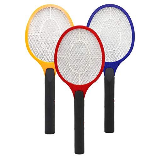 Hengda 3er Elektrische Fliegenklatsche, 3 Farben Insektenvernichter, EXTRA STARK, für Insekten, Mücken, Fliegen…