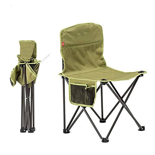 W.KING Kleine Folding Camping Stuhl Leichtgewichtige Sitz Tragbarer Hocker für Erwachsene Bergsteigen Abenteuer Wandern Angeln Strand-Picknick-Party im Garten mit Tragetasche